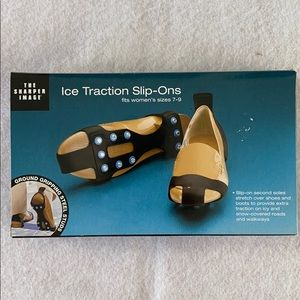 Ice Traction Slip-Ons Fits Women's Sizes 7-9 NWT